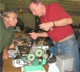 (105)    Tom Hammond  and his Gear Hobbing Machine