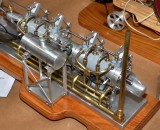 (76)    A closeup of Ron's really nice Snow Tandem engine