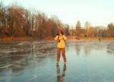 Tervueren... une glace encore brillante de froid ! (1/1/2009)
