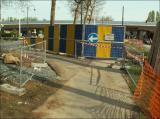 3/5/2006 - Déviation de la piste cyclable au bd. du Souverain, venant de Boitsfort.