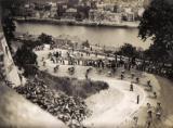 Passage du Tour de France 1949 à la citadelle de Namur.