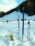 Vieux skis de telemark SPLITKEIN