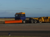 Colourful snow plough at Wick