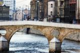 sarajevo, miljacka river bridge