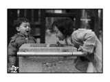 Jessica and Joseph at water fountain