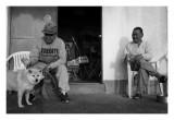 Fishermen and dog, Onjuku
