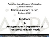 AAPA Q Communications Forum - August 2009