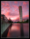 Sunset over Turning Torso