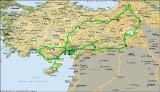 Itinerary in Turkey from our tour - Itinerario en Turquia de nuestro viaje - Itinerari de Turquia del nostre viatge