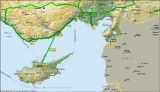 Detail from the itinerary - Adana - Cyprus -