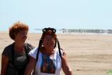 Mirage - Espejismo - Miratge - Dos visitantes disfrutando de este efecto óptico en la Punta del Fangar