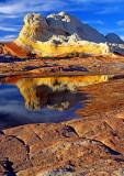 Striped Sentinal reflection, White Pocket, Vermilion Cliffs National Monument, AZ