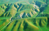 (SG3) Right lateral strike-slip offset on the San Andreas Fault., Carrizo Plain, CA