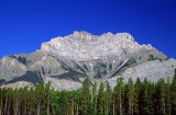 (SG10) Cascade Mountain showing a syncline and anticline, Alberta, Canada