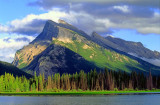 (SG30) Dip slope and anti-dip slope are apparent at Mount Rundle, Banff National Park, Alberta, Canada