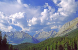 (SG31) Steeply dipping rocks, Queen Elizabeth Range, Jsper National Park, Alberta, Canada