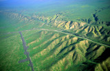 (SG34) View of the trace of the San Andreas Fault, Carizzo Plain, CA