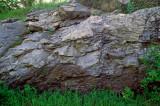 (SG38) Taconic thrust fault boundary showing limestone over mylonite, Bennington, VT