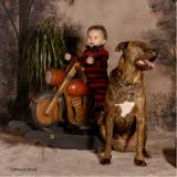 Children's Portraits in Reds & Browns