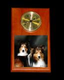 Wood Clock w/ 4Tile $65
