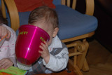 I'm just trying how it looks like drinking from a Champagne bucket