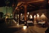 Our hotel by night