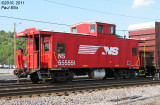 NS 55551, ex-NW C31P-class caboose.