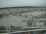 Waterloo Bridge, green roof inbetween bridges is Royal Festival Hall.jpg