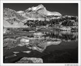 Greenstone Lake Reflecting North Peak, 20 Lakes Basin