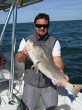 Matt with biggest fish of the day (illegal out of season)