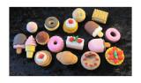 Japanese erasers. dessert collection
