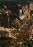 13-  Lower Falls Yellowstone Park