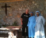 Me Mother Lydia, and Sister Benedicta at the Grotto, Mariachitubu