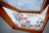 winter through the attic window