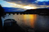 sundown on Vltava
