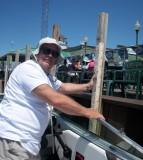 Dave docking boat for eatins