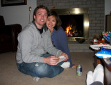 Grant and GF at Mike's house