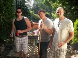Joe's house party - pig roasting