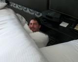Aaron captured in the room