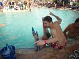 Guys pool antics