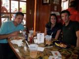 Frank, Danielle, and John at Bobby V's in Stamford