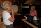 Mom and Grandma at home