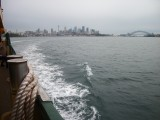The ferry to Manly from Sydney