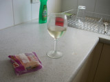 Luxurious wine and cheese party for one