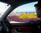 My friend Tae Youn in his car on Bondi Beach
