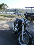 My bike at Spit Bridge in Mosman