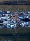 Vár og Norðberg sunk in Klaksvik harbour.