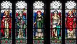 St Swithun's church,Leonard Stanley; window detail