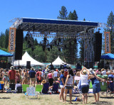The (main) Grandstand stage in the afternoon during the Carolina Chocolate Drops set