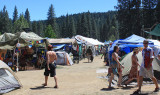 Part of the High Sierra campground in the mountains